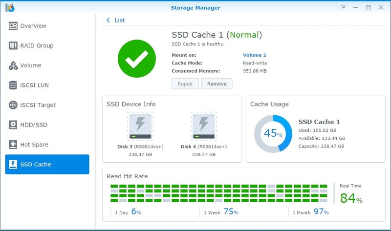 Synology SSD cache